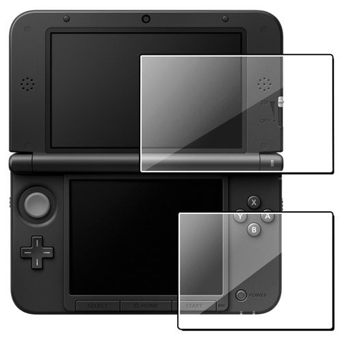 Everydaysource Compatible With Nintendo 3DS XL Clear Reusable Screen Cover , 5-Pack