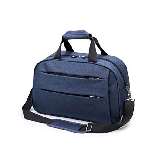 (Men Hand Carry on Luggage Bag Sports Fitness Folding Bag weekend Large capacity duffle,travel bag-Blue-L)