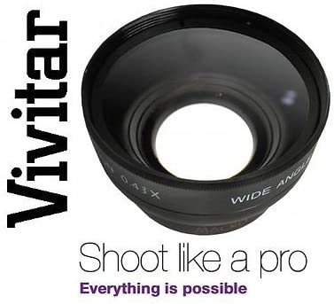 52mm Hi Def Wide Angle Lens with Macro for Canon Sony Nikon Samsung Panasonic
