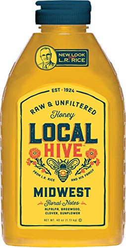 Local Hive from L.R Rice, Raw Honey, Pure and Unfiltered, Local Midwest United States Beekeepers, 40oz (Best Local Honey For Allergies)