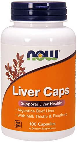 Now Supplements, Liver Caps with Milk Thistle and Eleuthero, 100 Capsules