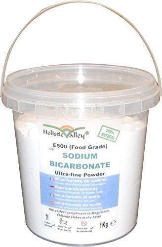 Cubo de 1 kg de bicarbonato de sodio de calidad alimentaria
