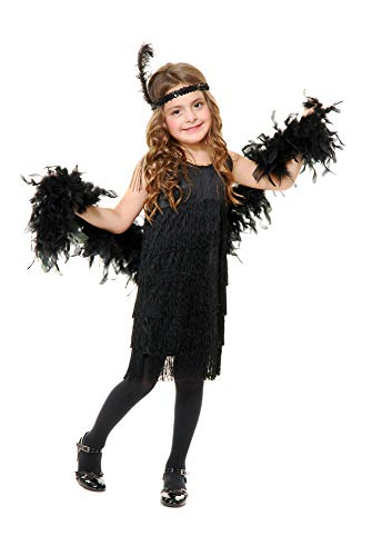 Charades Fashion Flapper Girl's Costume Dress, Pink, Small