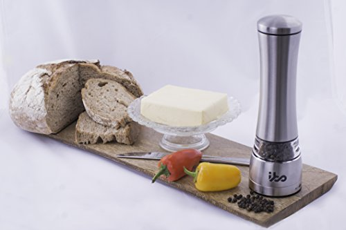 Ibo Deluxe Salt Or Pepper Grinder Set Stylish Mill Shaker