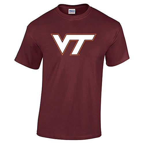 - Elite Fan Shop NCAA Men's Virginia Tech Hokies T Shirt Team Color Icon Virginia Tech Hokies Maroon Medium