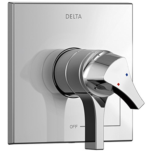 Delta Zura Collection Chrome Monitor 17 Dual Temperature and Water Pressure Shower Faucet Control Handle Includes Trim Kit and Valve without Stops D1976V