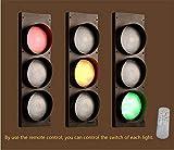 NIUYAO Remote Control Traffic Light Wall Light