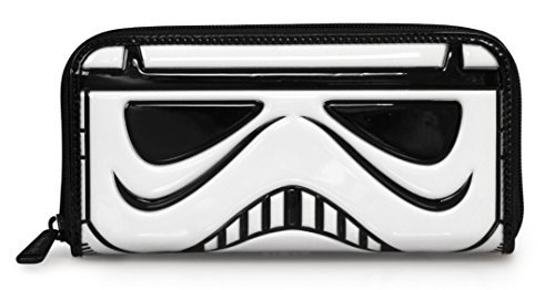 Loungefly x Star Wars Stormtrooper Patent Face Wallet,White,Large ()