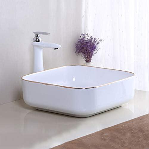 DS- バスルームの洗面台、超薄型セラミックカウンター盆地ホームホテルシンク技術の単一流域、2つのサイズの数: 洗面ボール && (Size : 38X38X13cm)