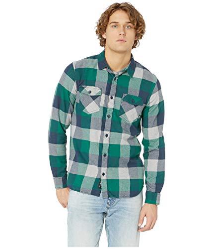 Vans Box Flannel Shirt - Men's, Evergreen-Grey Heather, Small, VN000JOGWUQ-Small