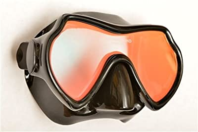 Oceanways Superview-HD w/ Anti-UV/Glare Optical Multicoating w/Anti-Fog Scuba/Spearfishing Dive Mask (OM940BKSFF)
