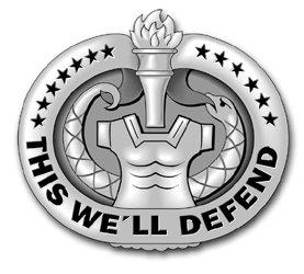 Military Vet Shop US Army Drill Sergeant Badge (Gray) Vinyl Transfer Window Bumper Sticker Decal 3.8