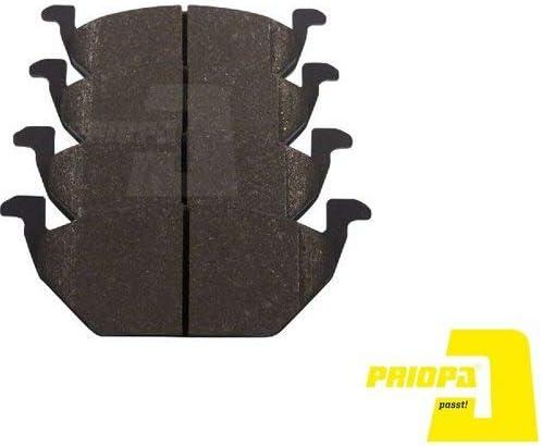 Priopa Bremsscheiben 256Mm Bremsbel/äge Set Vorne