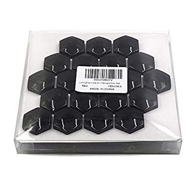 LU HWN 4X4 20 Pcs Universal 22mm Wheel Lug Nut Bolt Cove Caps and Removal Tools - Black: Industrial & Scientific