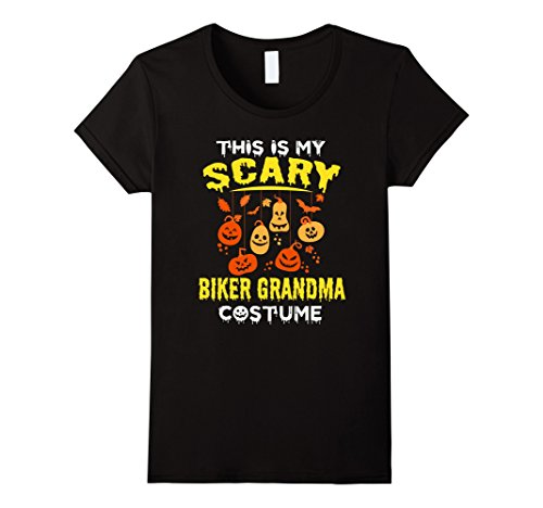 Costume Female Biker (Womens This is my Scary Biker Grandma Costume Halloween Funny shirt XL)