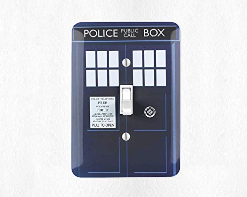 Tardis Switch Plate Cover Doctor Who Light Switch Cover Tardis Gift Doctor Who Gift Tardis Decor ()