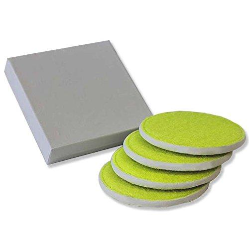 Tennis Coaster - Tennis Ball Material Coasters (Set of 4)