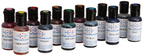 Airbrush 12 Farben-Set AmeriColor AmeriMist fur Airbrush (12x19ml)