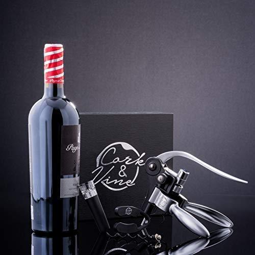 Cork & Vine - Wine Opener Set (Newest Model) Manual Rabbit Lever Tool, 2-in-1 Wine Stopper w/Vacuum Seal, Corkscrew, Foil Cutter   Elegant, Enthusiast Gift Accessories by Original Grind Co. (Image #5)