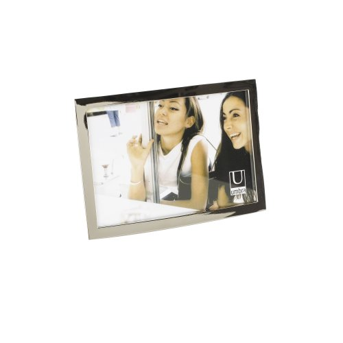 Umbra Senza Metal Picture Frame, 4 by 6-Inch, Chrome