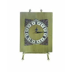 Creative Co-op DA0838 Metal Table Clock with Easel