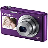 "Samsung DV150F 16.2MP Smart WiFi  Digital Camera with 5x Optical Zoom and 2.7"" front and 1.5"" rear Dual LCD Screens (Purple) (OLD MODEL)"