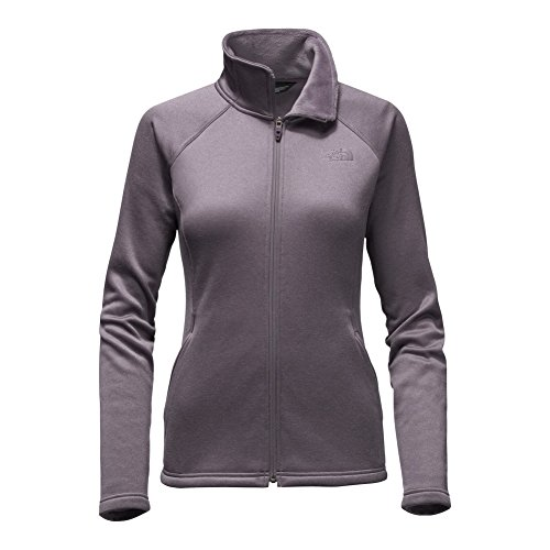 (The North Face Women's Agave Full Zip Jacket,Rabbit Grey Heather,US XL)
