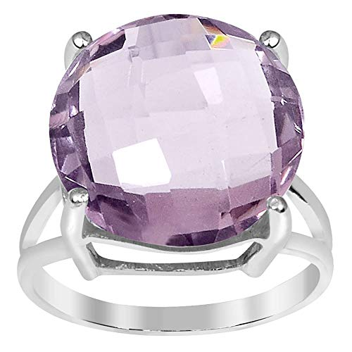 11.20 Ctw Pink Amethyst Stone Rings For Women By Orchid Jewelry: Anniversary & Promise Rings For Women & Her, Purple February Birthstone Wedding Jewelry, Fashion Rings Size 7