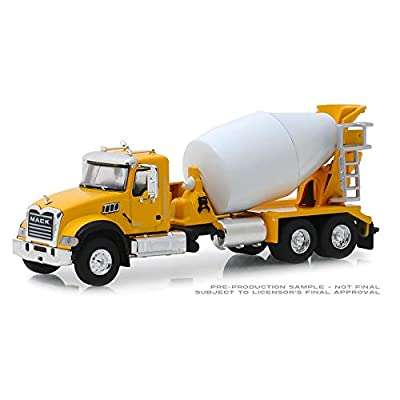 "New DIECAST Toys CAR Greenlight 1:64 SD Trucks Series 6 - 2020 Mack Granite Cement Truck 6"" (Yellow) 45070-B: Toys & Games"