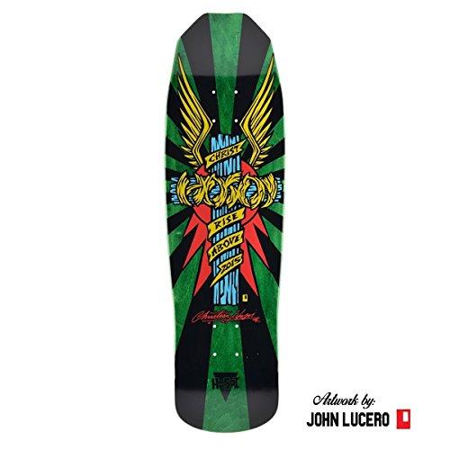 Hosoi Skates Christian Hosoi Wings Cross Deck w/Art by John Lucero Dark Green Stain … -