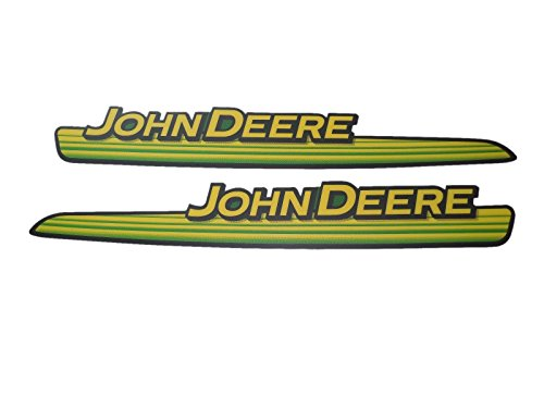 GX21140 GX21141 New John Deere LH & RH Upper Hood Decal Set L100 Series Tractor (Tractor Decal Set)