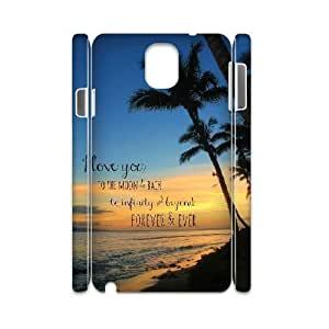 I love you to the moon and back Samsung Galaxy Note3 N9000 Phone Case, DIY Samsung Galaxy Note3 N9000 Case 3D