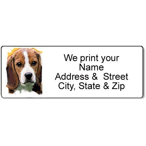 Beagle Address Label - Customized Return Address Label - 90 Dog Labels
