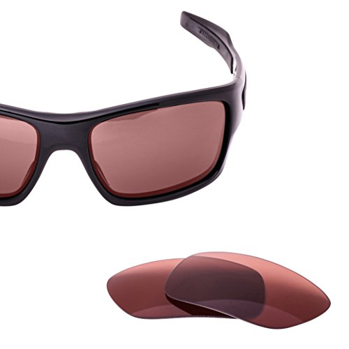 LenzFlip Replacement Lenses for Oakley TURBINE - Rose Polarized - Scratched Polarized Lenses Oakley