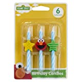 Sesame Street Elmo Icon Birthday Cake Candles - 6 pc