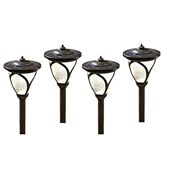 Allen U0026 Roth 4 Pack High Output (6x Brighter) Solar LED Landscape Lights,
