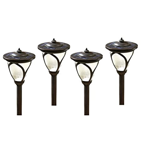 Allen roth 4 pack high output 6x brighter solar led landscape allen roth 4 pack high output 6x brighter solar led landscape lights aloadofball Choice Image