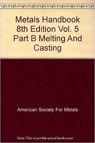 Metals handbook 8th edition vol 5 part b melting and casting metals handbook 8th edition vol 5 part b melting and casting american society for metals amazon books publicscrutiny Choice Image