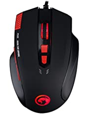 Gaming Mouse MARVO 7 Color LED Backlit Wired Mouse 3200 DPI 8 Button Ergonomic Design Mice Computer Gamer PC Gaming Mouse with Adjustable DPI LED Backlight Laptop Mouse Fit for PC/Laptops/Computer