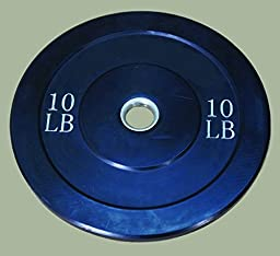10 lb Premium Solid Rubber Bumper Plates-Pair (No metal inserts inside)