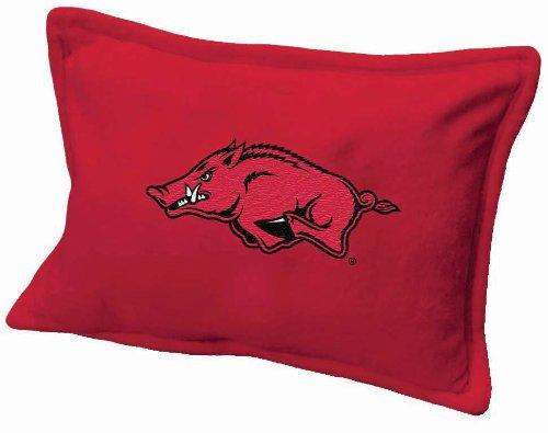 Scene Weaver NCAA 18 by 13-Inch Embroidered Fleece Pillow, Arkansas Razorbacks
