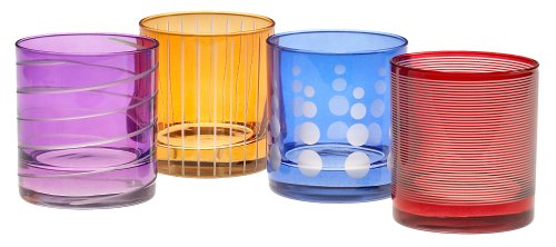 Mikasa Cheers Mix Double Old Fashioned, Set of 4