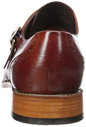 Stacy Adams Mens Brewster Dubbel Munk Rem Vingspets Slip-on Loafer Cognac