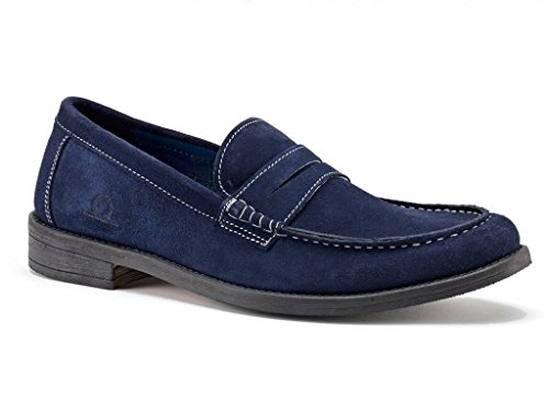 Chatham Perth PENNYLOAFER marine Wildleder Schuhe in Größe UK7 to UK15