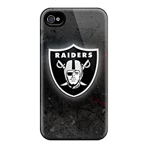 Shock-Absorbing Hard Cell-phone Cases For Iphone 4/4s With Custom Beautiful Oakland Raiders Pictures KaraPerron