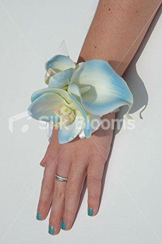 Gorgeous Baby Blue Wrist Corsage W/ Calla Lilies U0026 Orchids