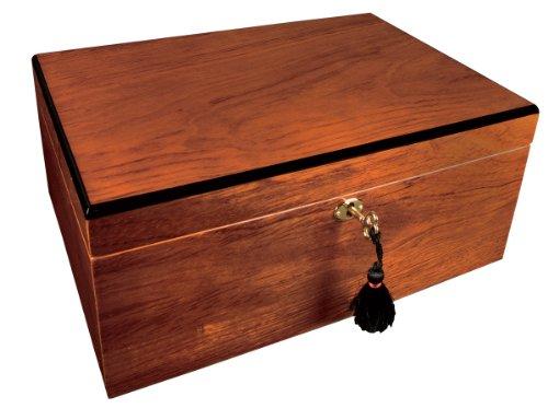 Savoy Large Bubinga Humidor - Holds 100 Cigars