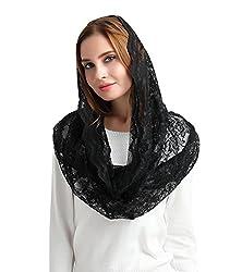 Black Catholic Mantilla Veils For Mass Head Covering Lace Church Headscarf S06l Black Wrap