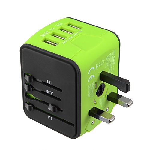 Travel Adapter International Tavel Power Adapter 4 USB Worldwide Travel Charger Universal...