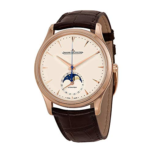 Jaeger LeCoultre Master Ultra Thin Moonphase Ivory Dial Leather Mens Watch Q1362520